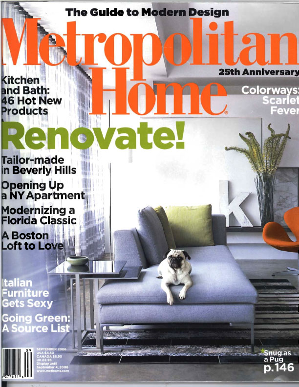 Metropolitan Home - Sept 2006
